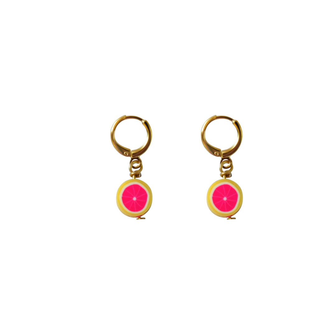 Grapefruit Earrings
