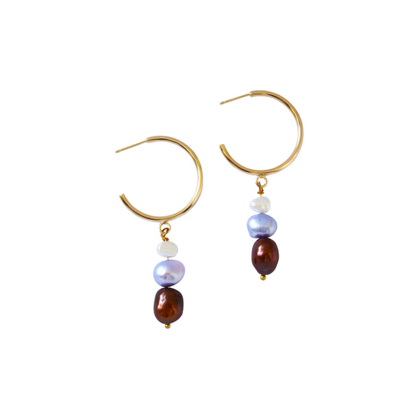 Autumn's Kiss freshwater pearl earrings