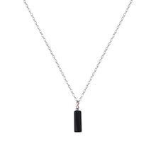 Load image into Gallery viewer, Onyx Cylinder Sterling Silver Necklace