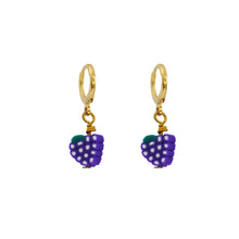 Load image into Gallery viewer, Red Grapes Earrings