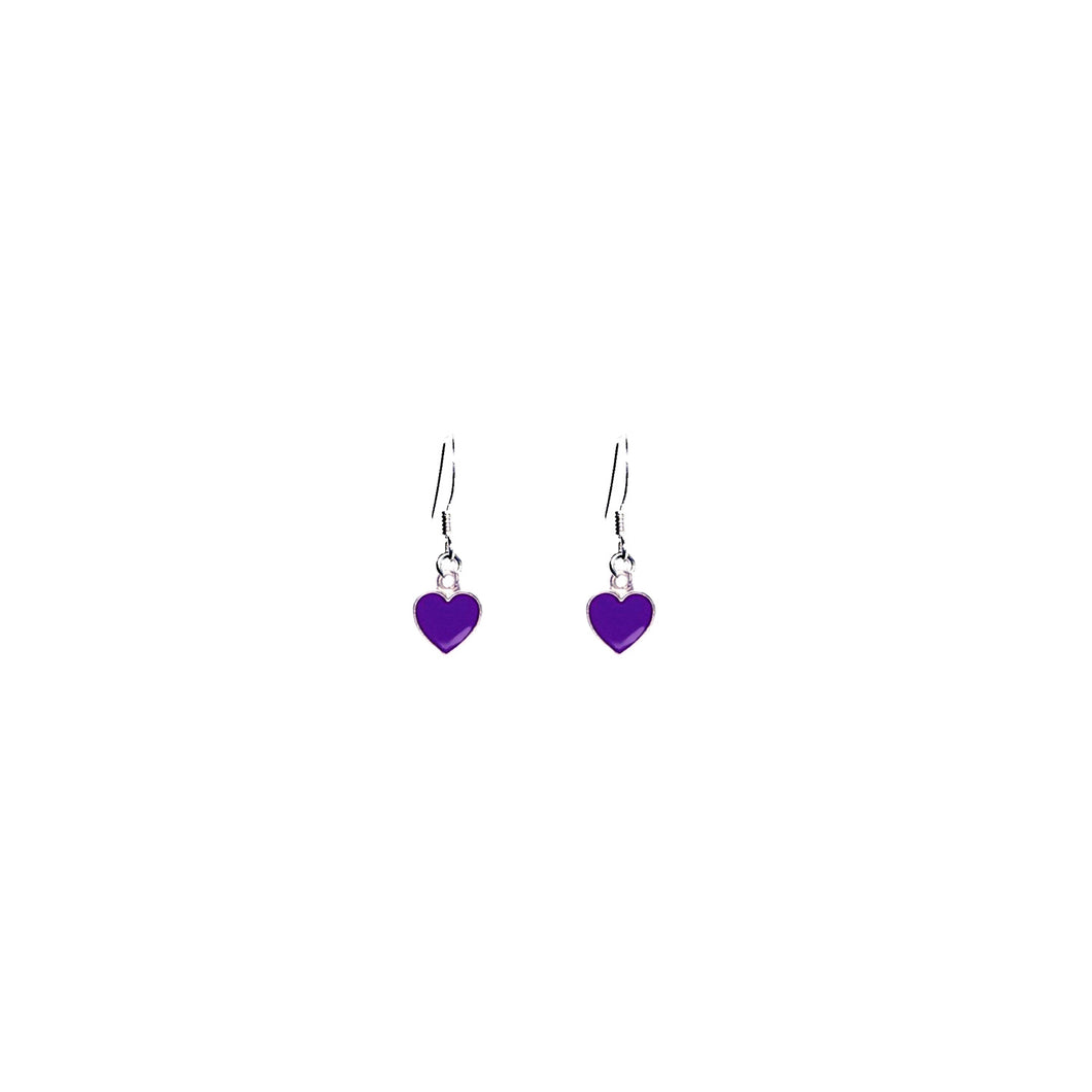 Purple Wisdom Hearts Earrings, Playing Cards inspired Queen of Hearts