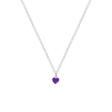 Load image into Gallery viewer, Purple Wisdom Heart Necklace, Playing Cards inspired Queen of Hearts