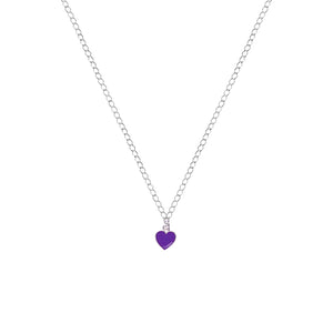 Purple Wisdom Heart Necklace, Playing Cards inspired Queen of Hearts