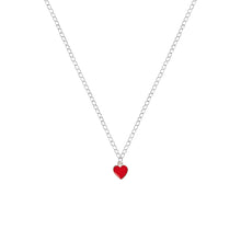 Load image into Gallery viewer, Classic Red Heart Necklace, Playing Cards inspired Queen of Hearts