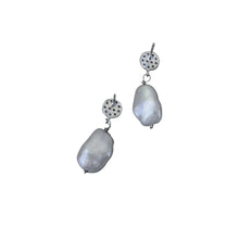 Load image into Gallery viewer, Priceless, Silver freshwater pearl, Sterling silver stud earrings