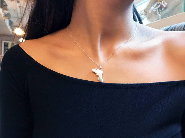 Limited Edition Dolphin necklace on 18 inch Sterling Silver Chain
