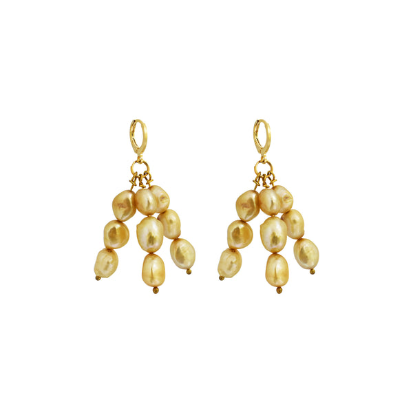 Igi (Trees) Gold Pearl earrings