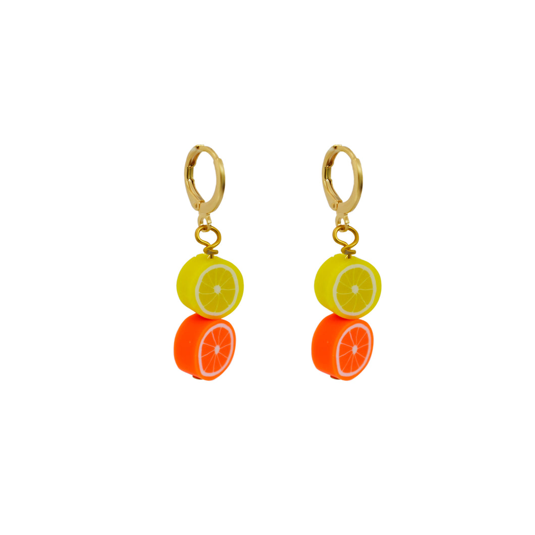 Lemon + Orange earrings
