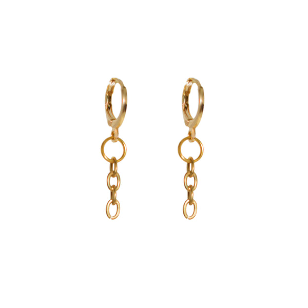 Chain Drop Loop Earrings (short)