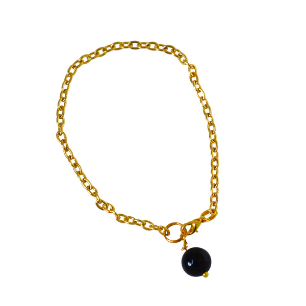 Black Onyx pearl bracelet and anklet