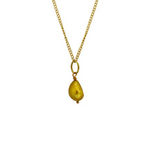Load image into Gallery viewer, Gold Pearl chain necklace