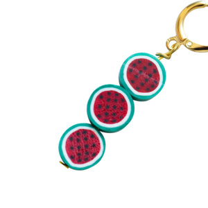Triple watermelon earrings