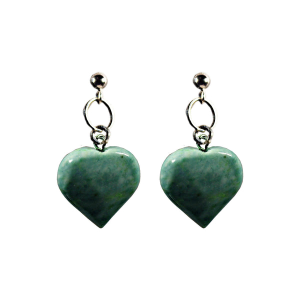 Chrysoprase Jade Stud Earrings
