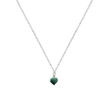 Load image into Gallery viewer, Chrysoprase Jade necklace on 18 inch Sterling Silver Necklace