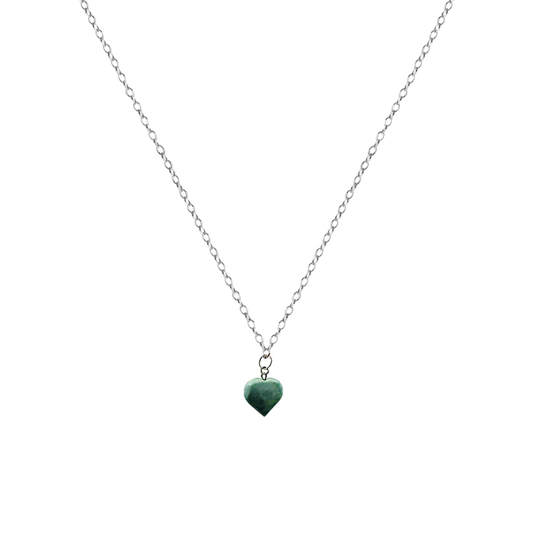 Chrysoprase Jade necklace on 18 inch Sterling Silver Necklace