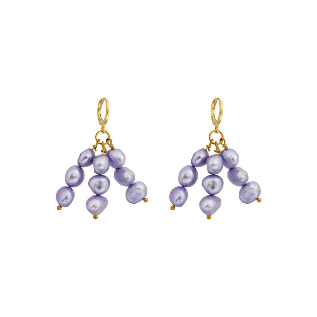 Igi (Trees) Lavendar Pearl earrings
