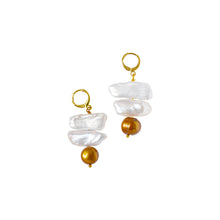 Load image into Gallery viewer, Ọna (the way) signpost pearl earrings