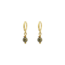 Load image into Gallery viewer, Faceted Pyrite Earrings