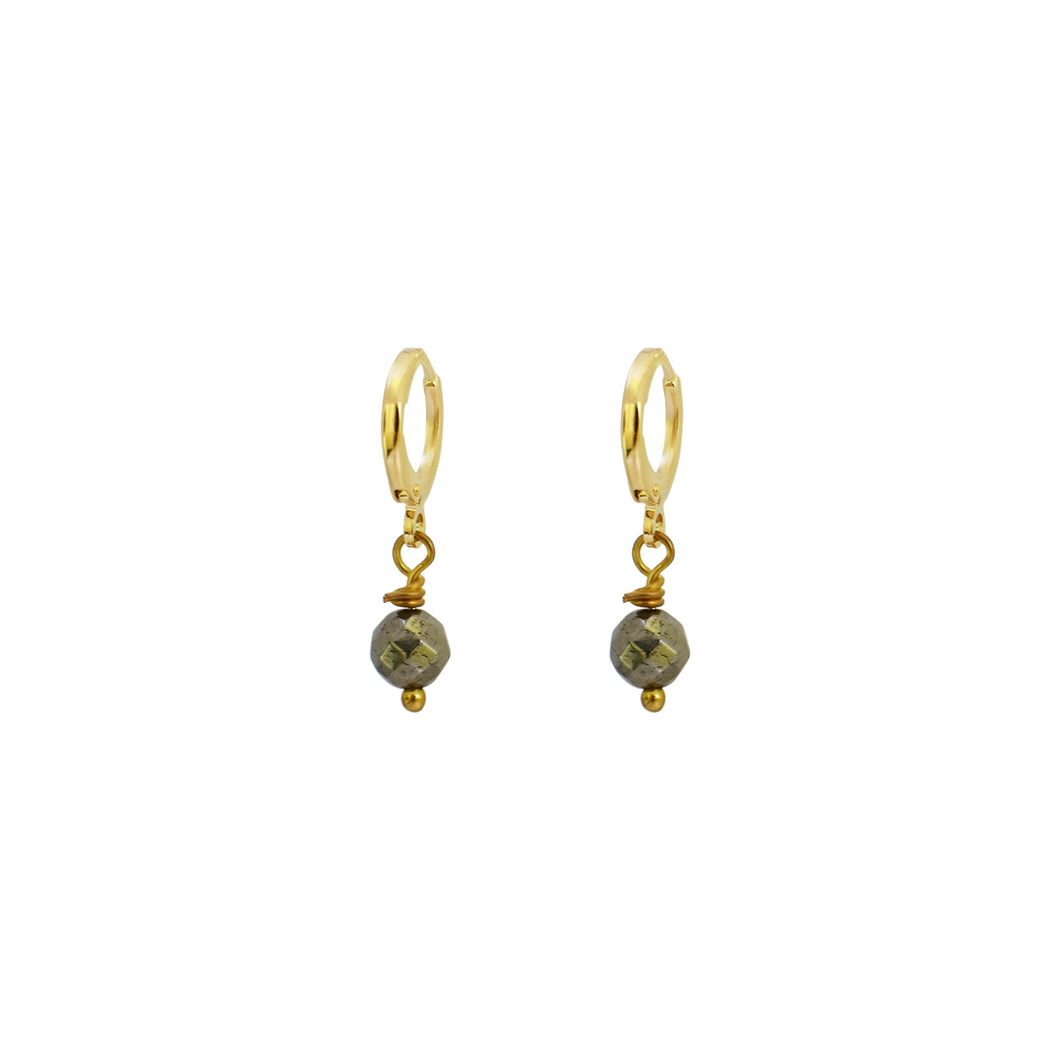 Faceted Pyrite Earrings