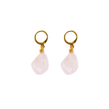 Load image into Gallery viewer, Rose Quartz Gemstone Earrings