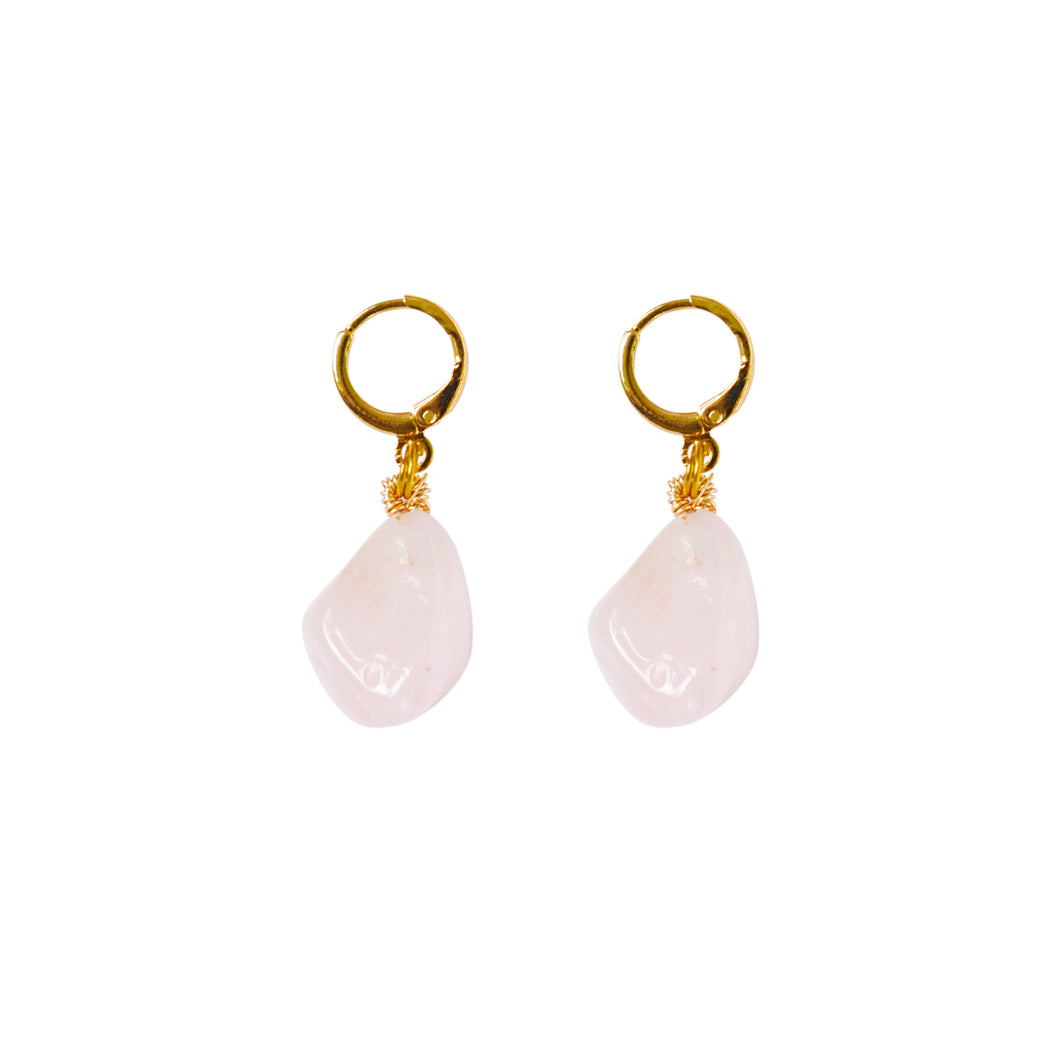 Rose Quartz Gemstone Earrings