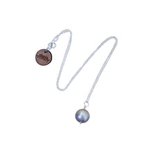 Load image into Gallery viewer, Learned, silver freshwater pearl, .925 sterling silver necklace