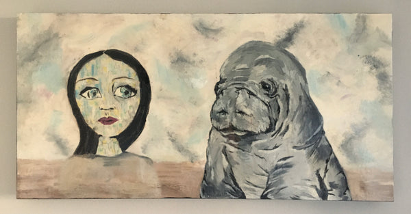 Manatee and the girl