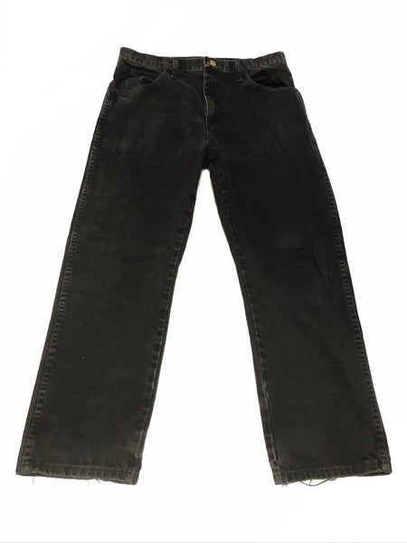 Medium Adult 34 x 30 Adult Pants Black Denim