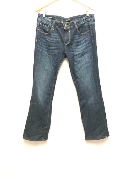 Size 32 Adult 13 / 14 Pants Vigoss Studio The Jagger Boot Dark Denim Jeans