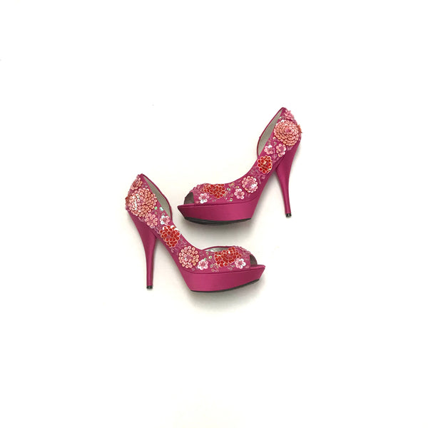 Size 9 Adult / Heels / Nina New York / Pink 5 Inch