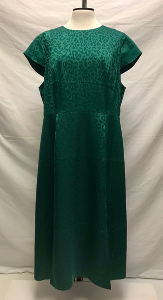 Size 14 / Midi Dress / Ted Baker / BELLANA Wilderness Green Leopard Print