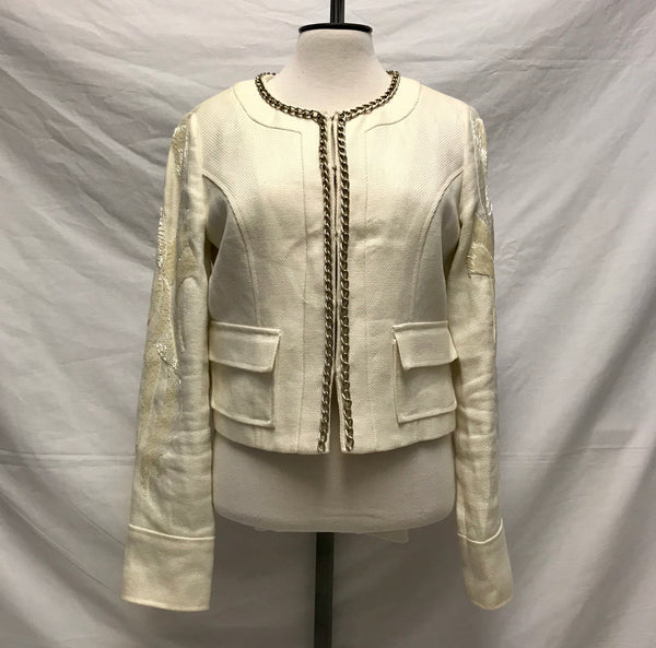 Medium / Dress Jacket / Guess / Creme Sequins Silver Chain