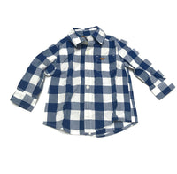 12m Collar Shirt Long Sleeve Button-Up Carter's Blue White Checkered