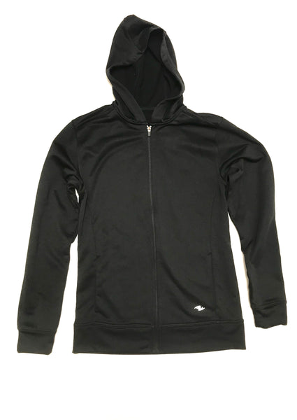 Small Zip-up Hoodie Long Sleeved Athletic Work Black