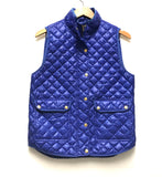 Medium / Quilted Puffer Vest /  J.Crew / Royal Blue