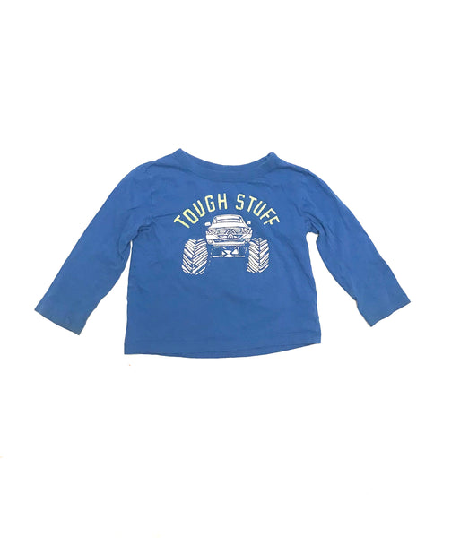 3T / Long Sleeve Shirt / OshKosh B'gosh / Blue Tough Stuff Monster Truck