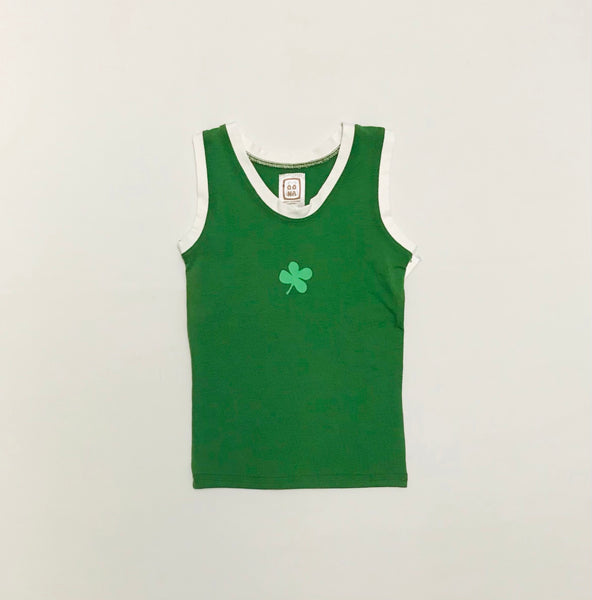 2y - 11y / Sleeveless Undershirt / Oona Clothing / Green Lucky Clover