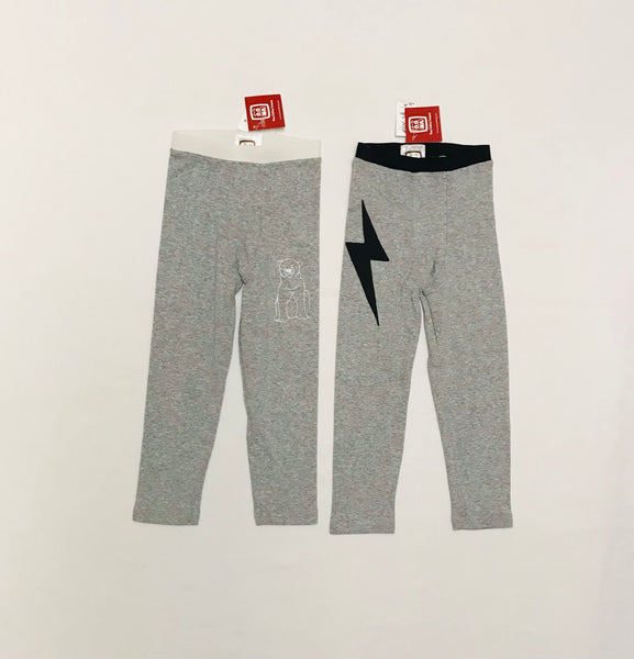 2y - 11y / Long Johns / Oona Clothing / Grey w Polar Bear or Lightning Bolt