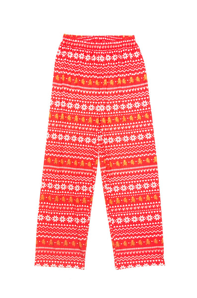 10Y 11Y 12Y Large / Pyjama Pants / Children's Place / Red Gingerbread People