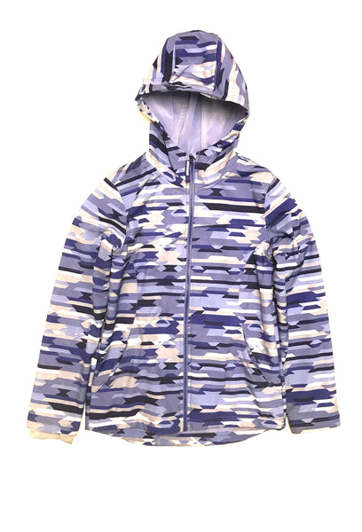 14Y 15Y 16Y XL Youth / Hooded Jacket / Paradox / Purple White Grey