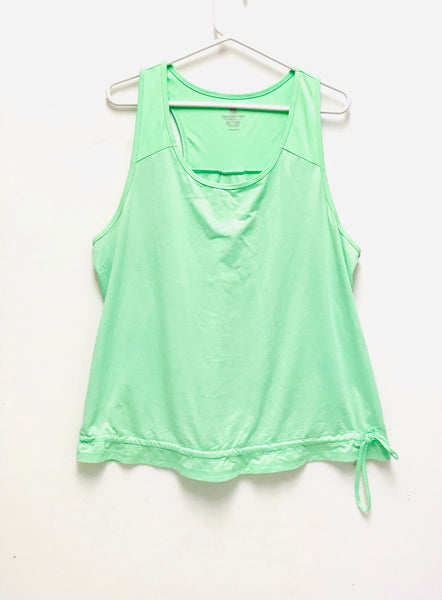 XXL / Sleeveless Shirt / Old Navy / Neon Fluorescent Green Active Tank Top Racerback