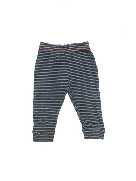 9m 12m / Sweat Pants / Next Baby / Blue w Grey Stripes Joggers