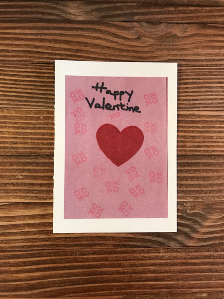 Valentine's Day Cards / Large Single with Envelope / Blank Inside