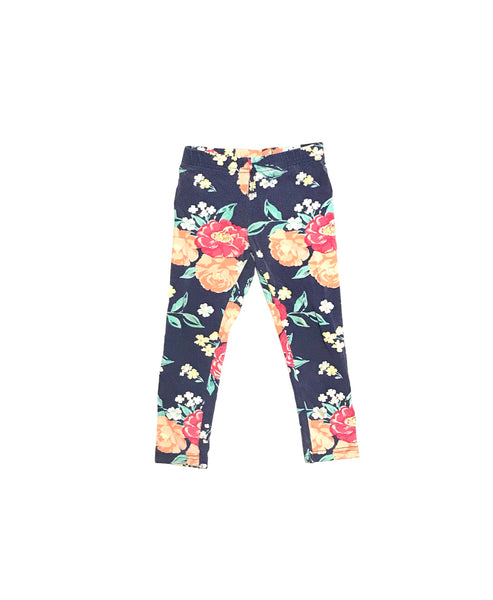 3T / Pants / Carter's / Blue w Flowers Leggings