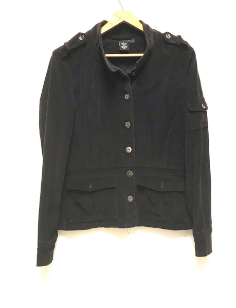 Medium / Jacket / Calvin Klein Jeans / Black Corduroy Button-Up w Pockets