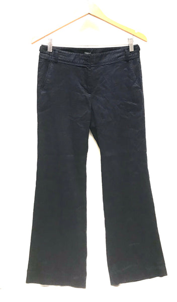 Medium / Dress Pants / Autograph / Navy Blue w Pockets Wide Leg