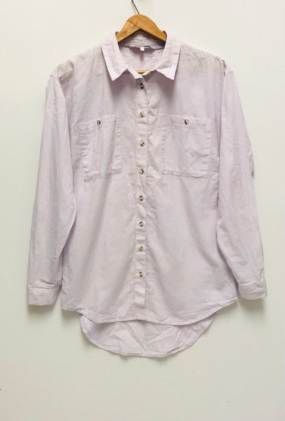 Medium Size 8 / Long Sleeve Shirt / Next / Button-Up Collared Light Purple Lilac