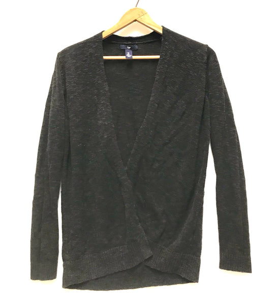 Small / Cardigan / Gap / Charcoal Grey Open Front Long Sleeve