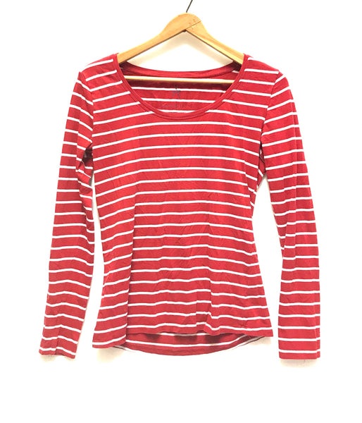 Medium / Long Sleeve Shirt / Atmosphere / Red White Stripes