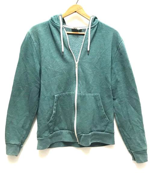 Medium / Hoodie / Topman / Green Zip-Up w Pockets